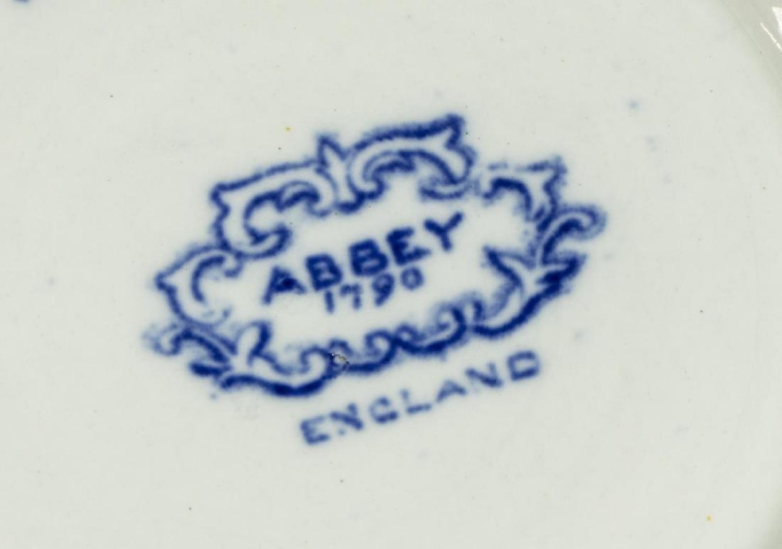 (11) ENGLISH STAFFORDSHIRE BLUE TRANSFERWARE - 5