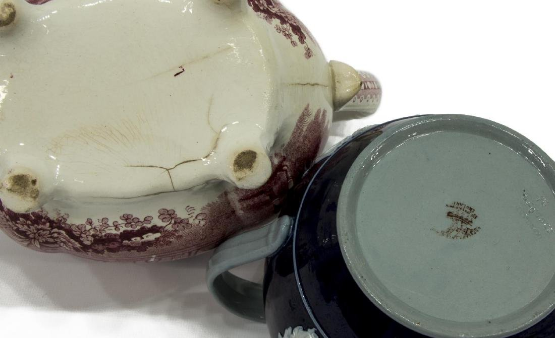 (4) STAFFORDSHIRE TEAPOT & COPELAND SPODE TEA SET - 4