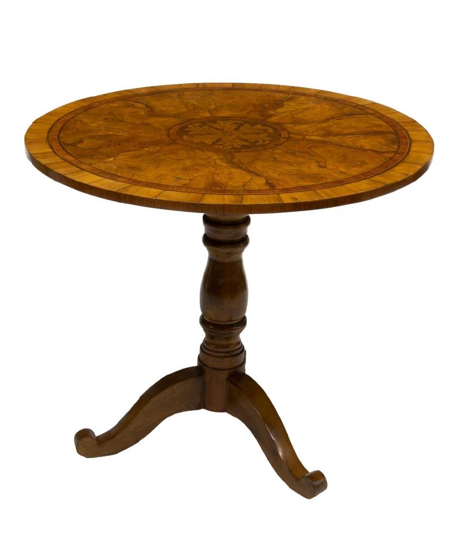 ITALIAN LOUIS PHILIPPE MARQUETRY SIDE TABLE