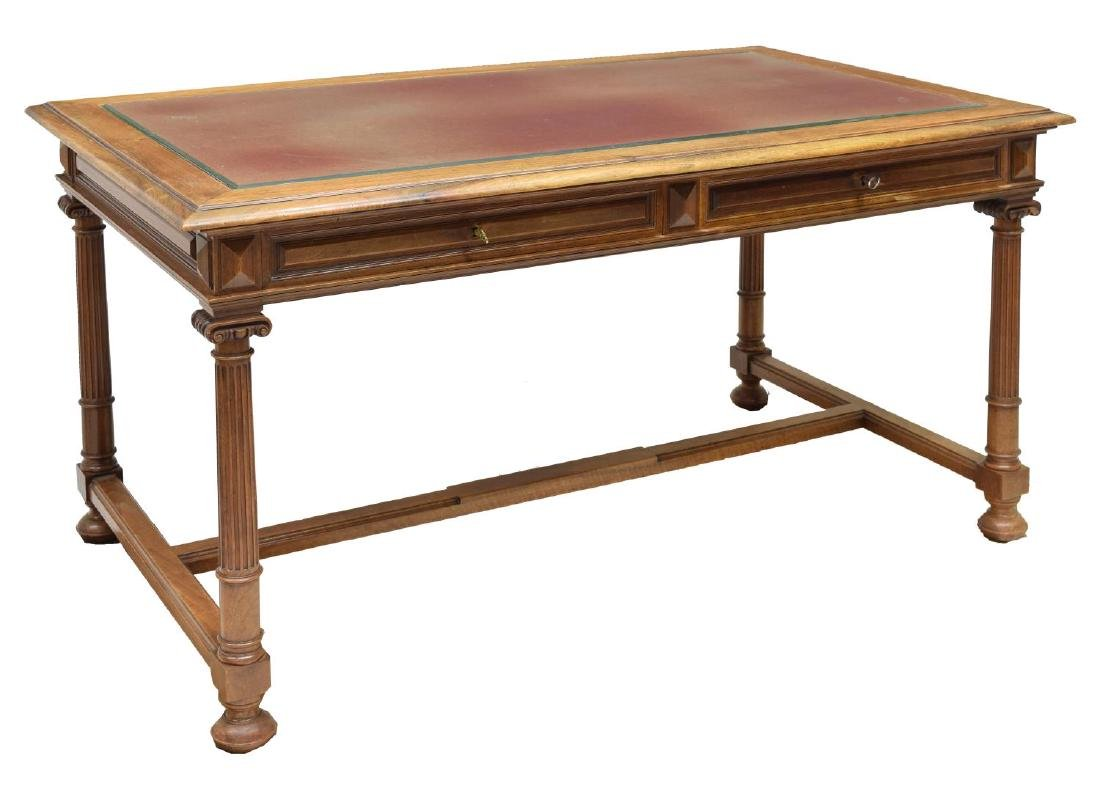 FRENCH WALNUT LIBRARY DESK