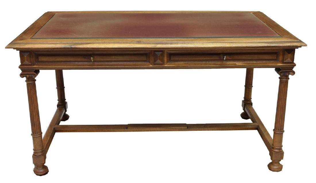 FRENCH WALNUT LIBRARY DESK - 2