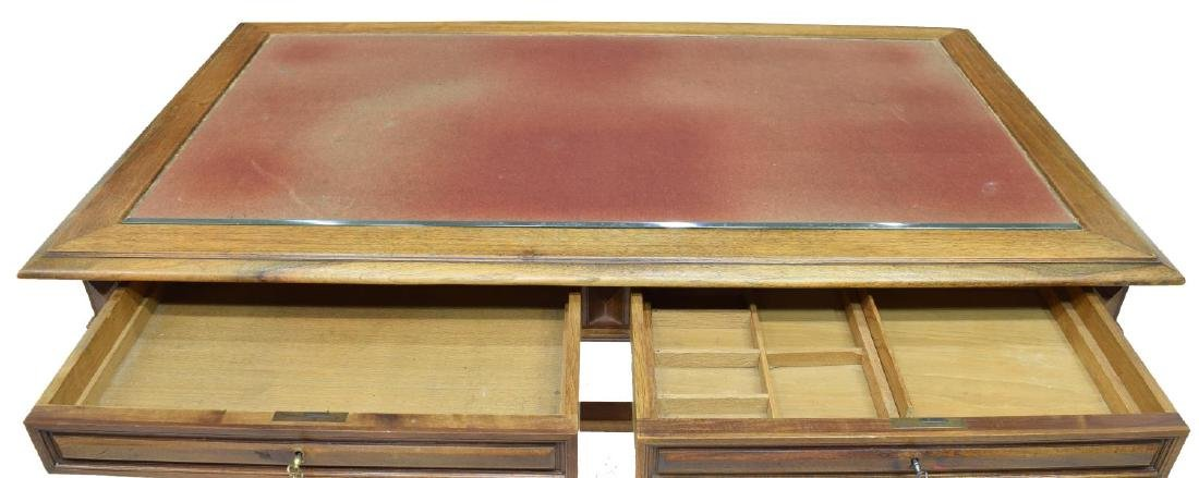 FRENCH WALNUT LIBRARY DESK - 3