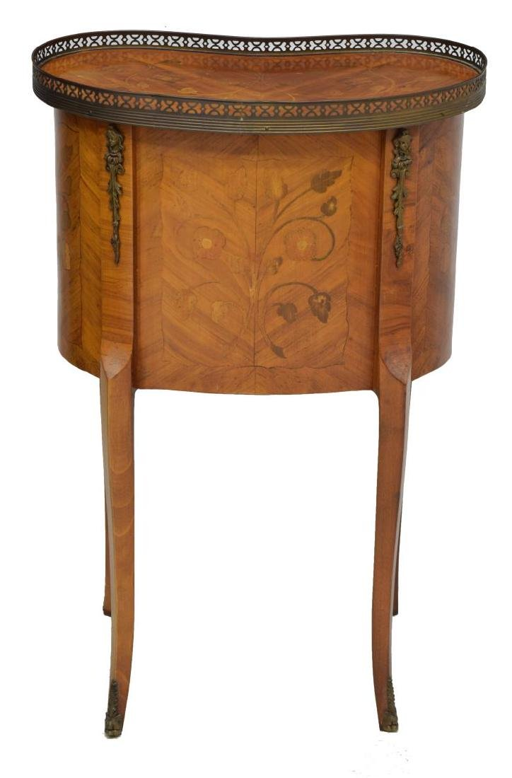 LOUIS XV STYLE WALNUT KIDNEY SHAPED SIDE TABLE - 2