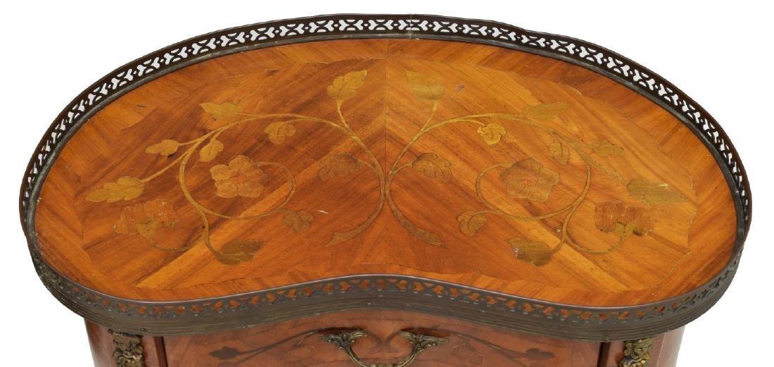LOUIS XV STYLE WALNUT KIDNEY SHAPED SIDE TABLE - 3