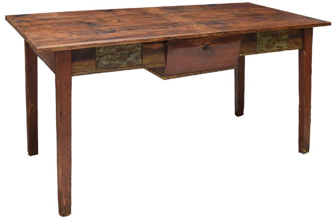 VINTAGE DANISH PINE WORK TABLE