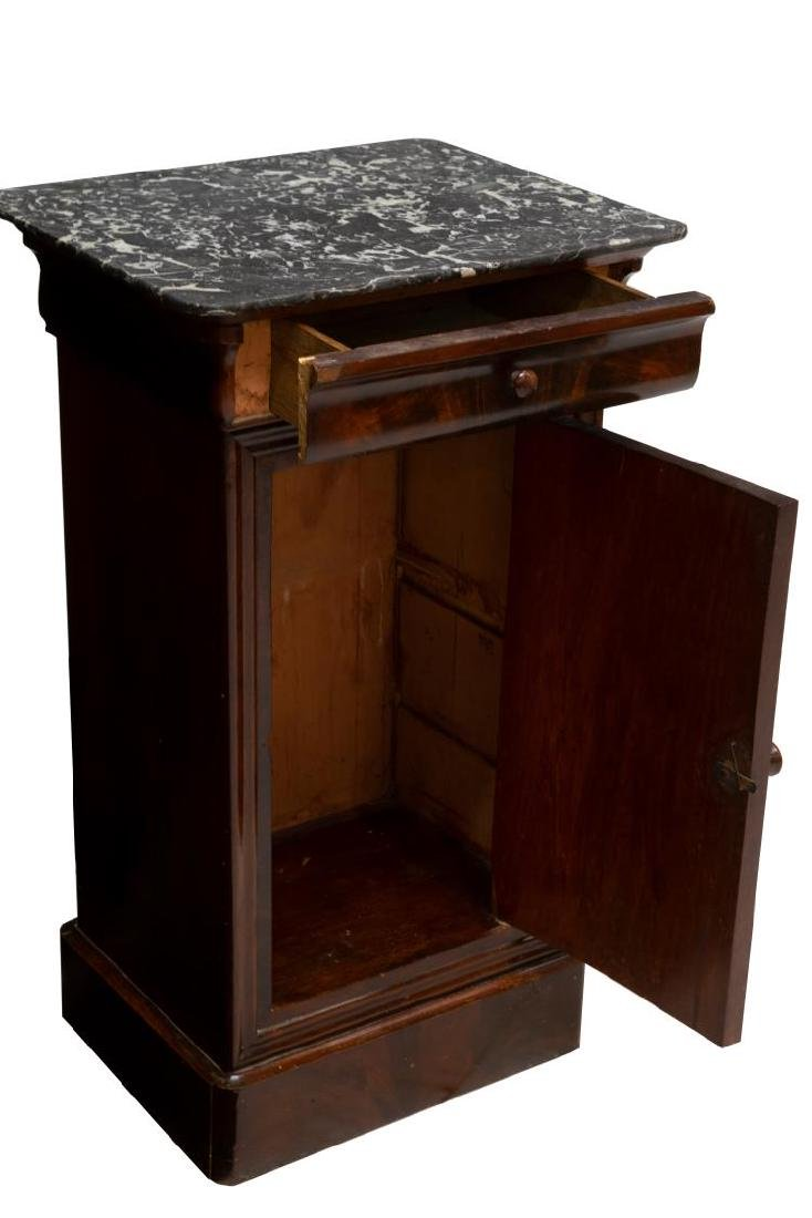 FRENCH CHARLES X MARBLE TOP MAHOGANY SIDE TABLE - 3