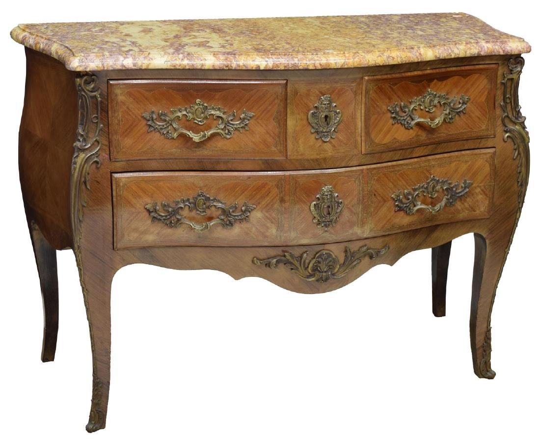 FRENCH LOUIS XIV STYLE THREE-DRAWER COMMODE