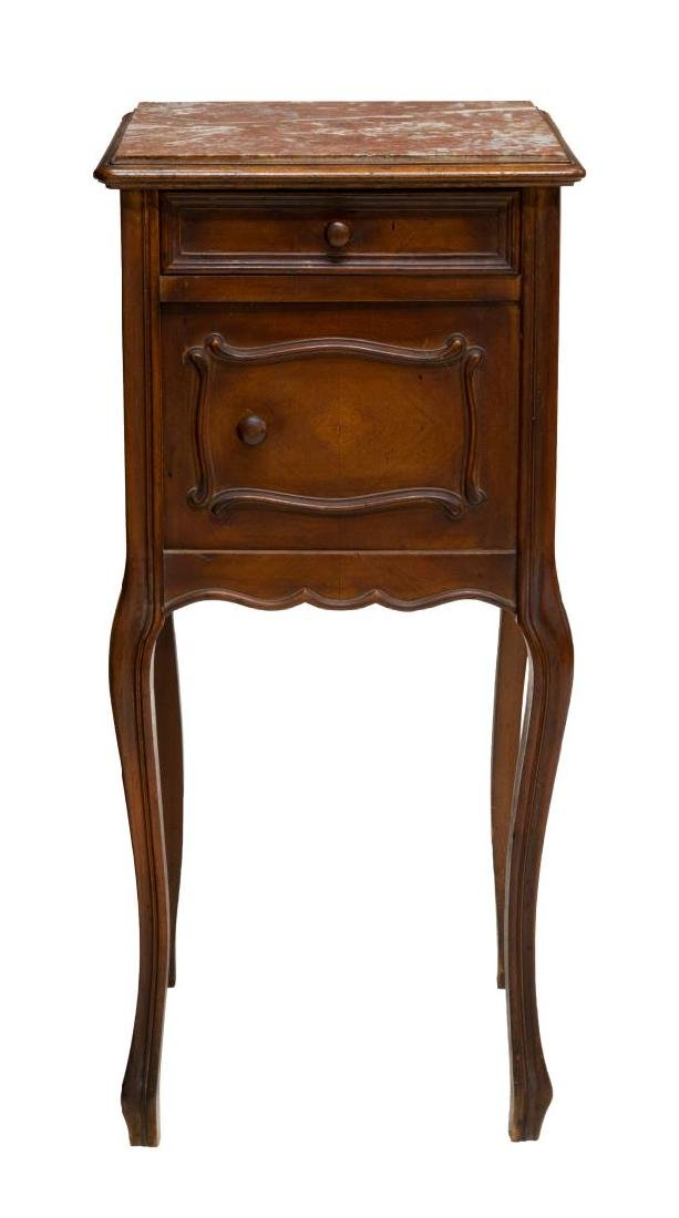 2) ITALIAN LOUIS XV STYLE MARBLE TOP SIDE CABINETS - 2