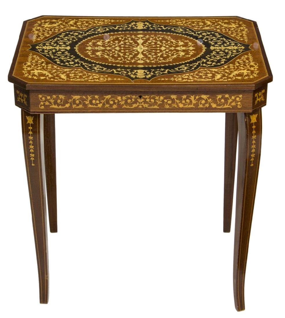 ITALIAN MARQUETRY MUSICAL SIDE TABLE - 2