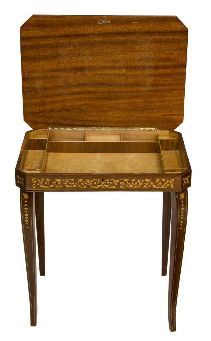 ITALIAN MARQUETRY MUSICAL SIDE TABLE - 3