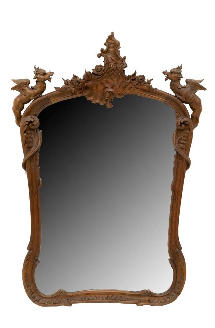 FRENCH RENAISSANCE REVIVAL WINGED GRIFFIN MIRROR