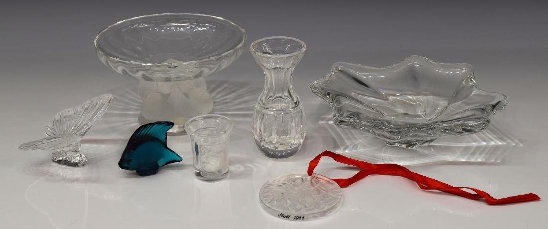 (7) LALIQUE, BACCARAT, WATERFORD CRYSTAL GROUP