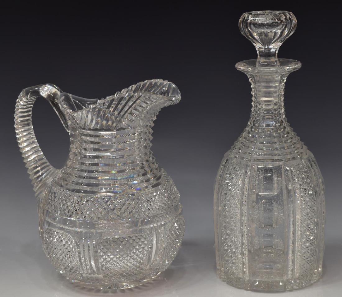 (2) AMERICAN BRILLIANT PERIOD CUT-GLASS TABLEWARE