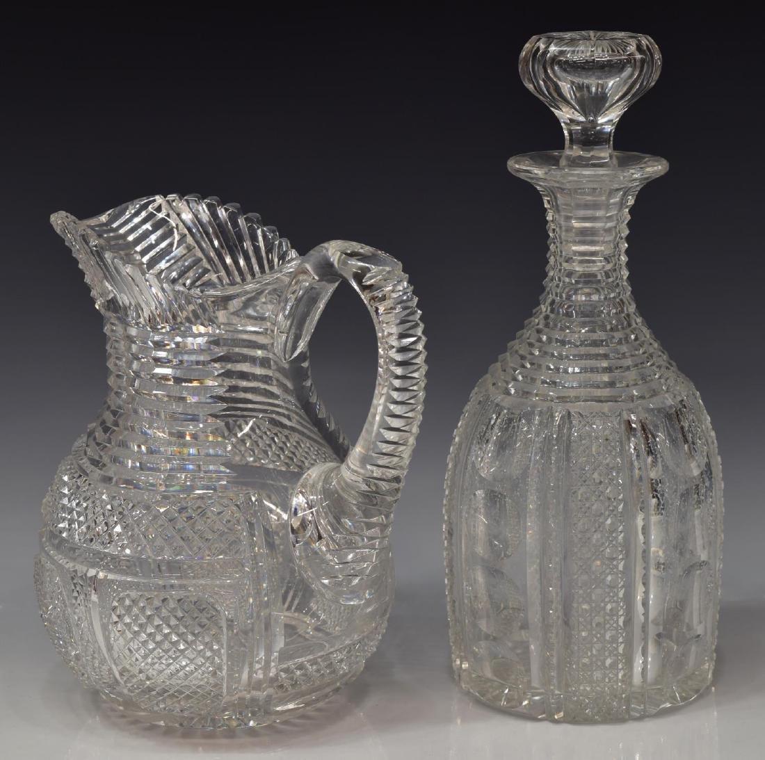 (2) AMERICAN BRILLIANT PERIOD CUT-GLASS TABLEWARE - 2