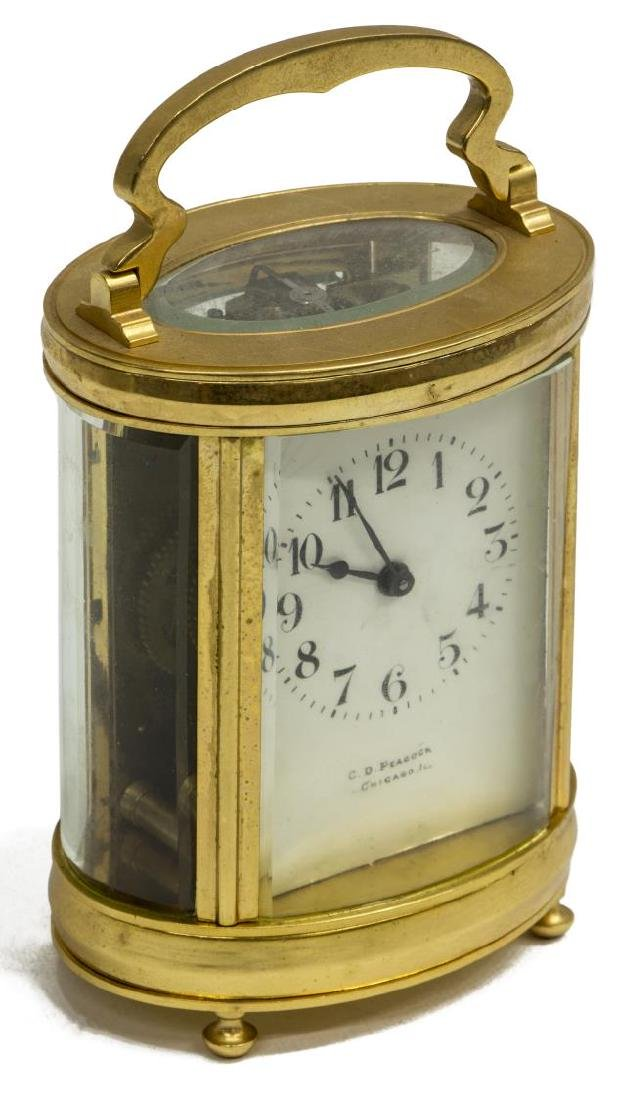 FRENCH CARRIAGE CLOCK RETAILED BY C.D. PEACOCK
