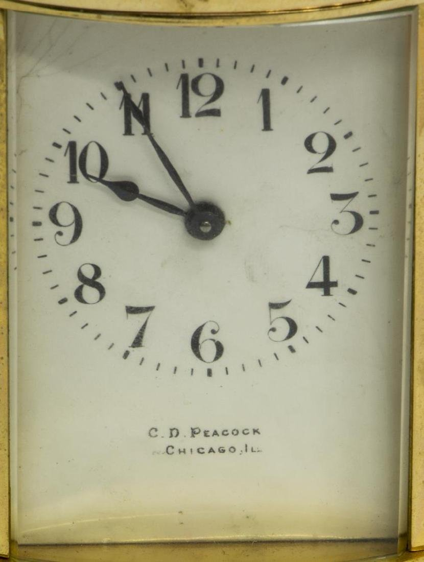 FRENCH CARRIAGE CLOCK RETAILED BY C.D. PEACOCK - 3