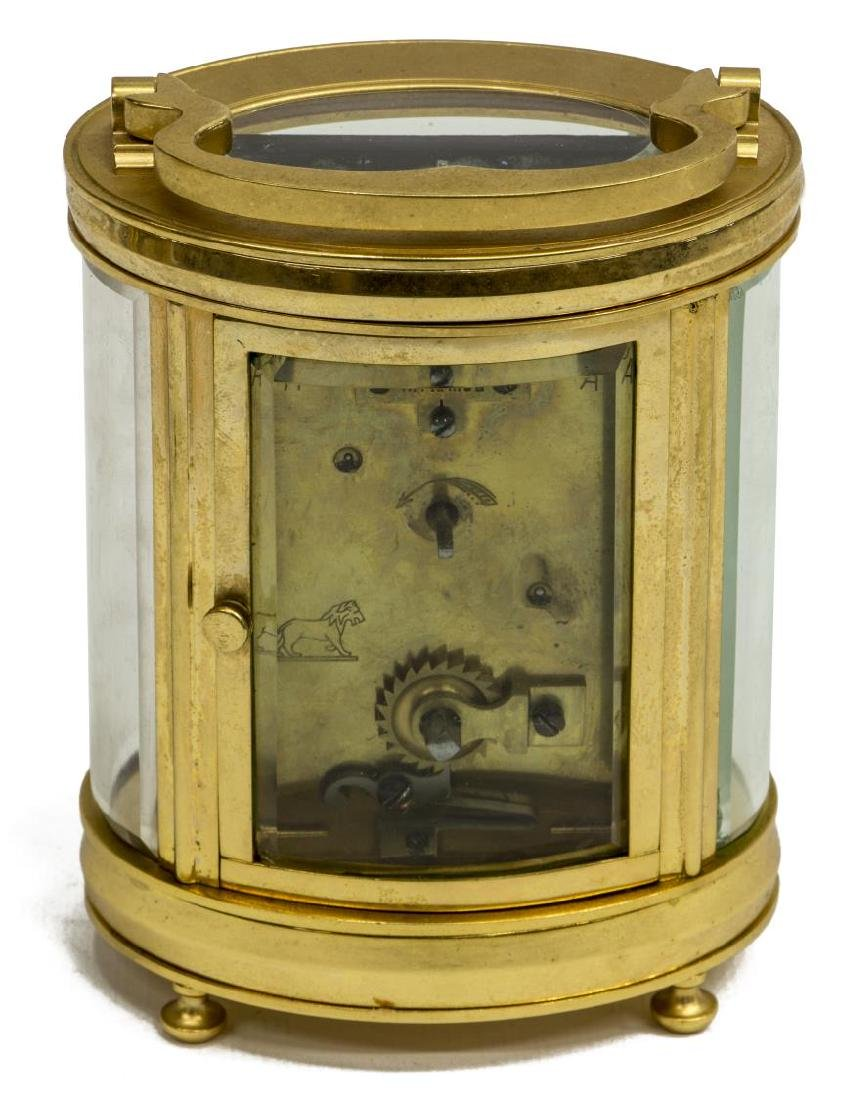 FRENCH CARRIAGE CLOCK RETAILED BY C.D. PEACOCK - 5