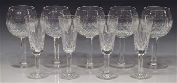 (9) WATERFORD LISMORE & COLLEEN STEMWARE GROUP