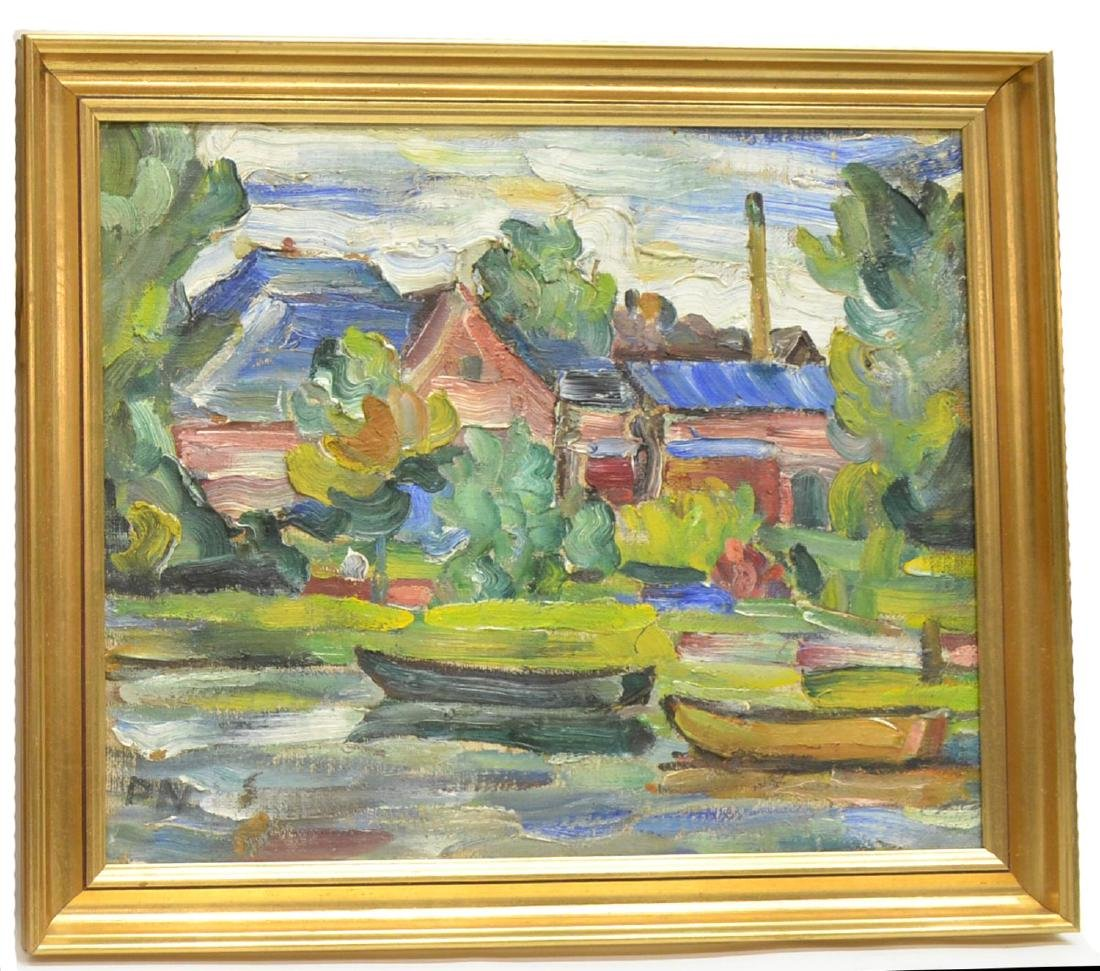 (2) FRAMED IMPASTO OIL ON BOARD PAINTINGS, SIGNED - 4