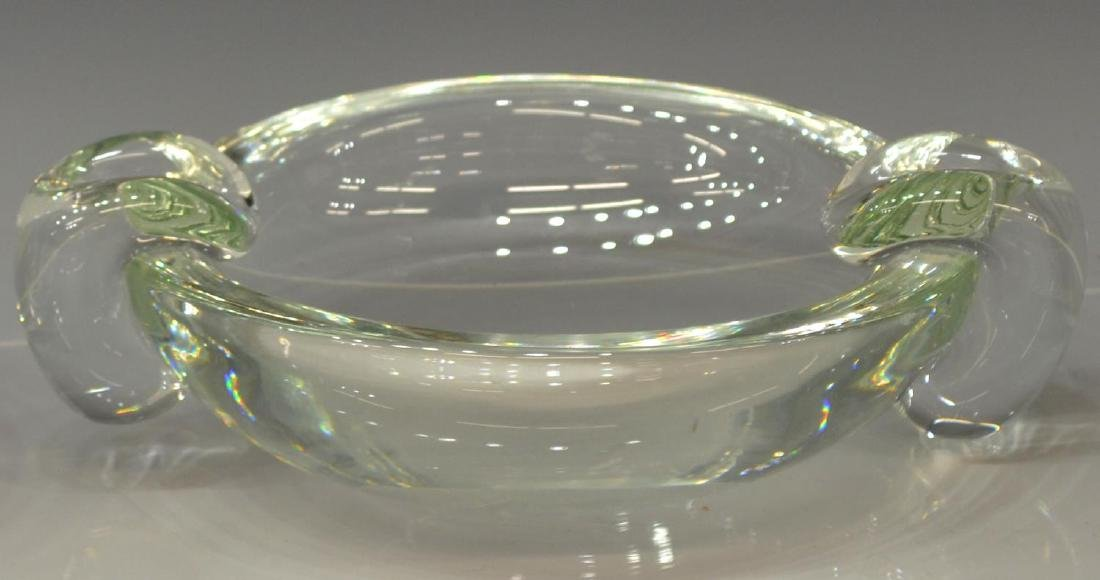 (2) STEUBEN CLEAR GLASS ASHTRAYS - 2
