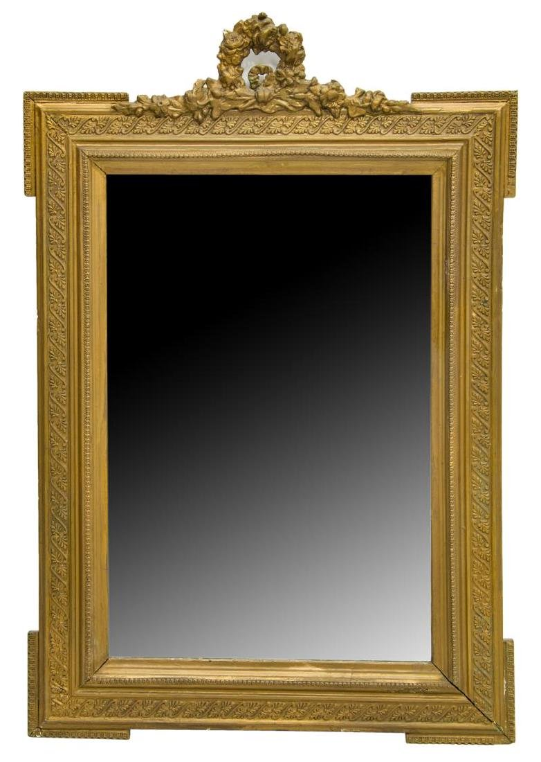 FRENCH LOUIS XVI STYLE GILDED WALL MIRROR
