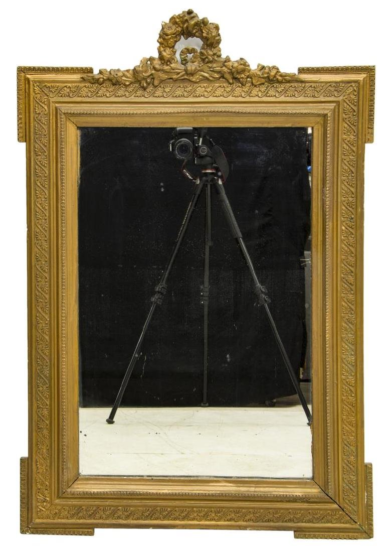 FRENCH LOUIS XVI STYLE GILDED WALL MIRROR - 2