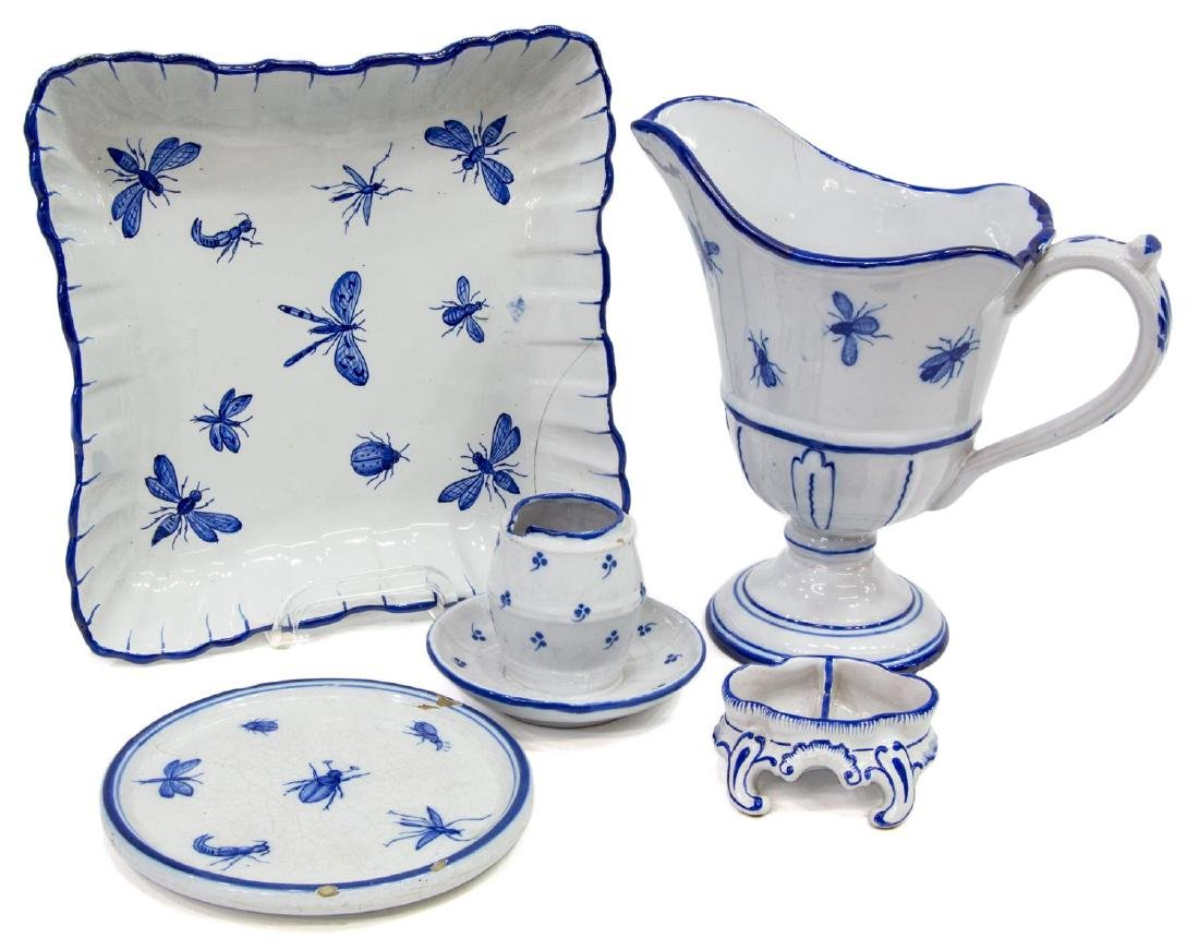 (5) GALLE ST. CLEMENT FAIENCE TABLEWARE
