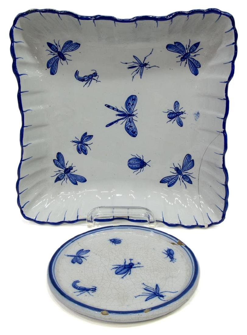 (5) GALLE ST. CLEMENT FAIENCE TABLEWARE - 2