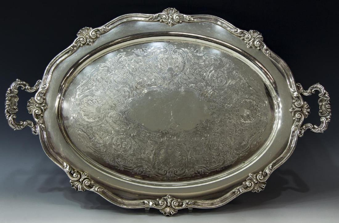 (9) COLLECTION OF DECORATIVE SILVERPLATE TABLEWARE - 2
