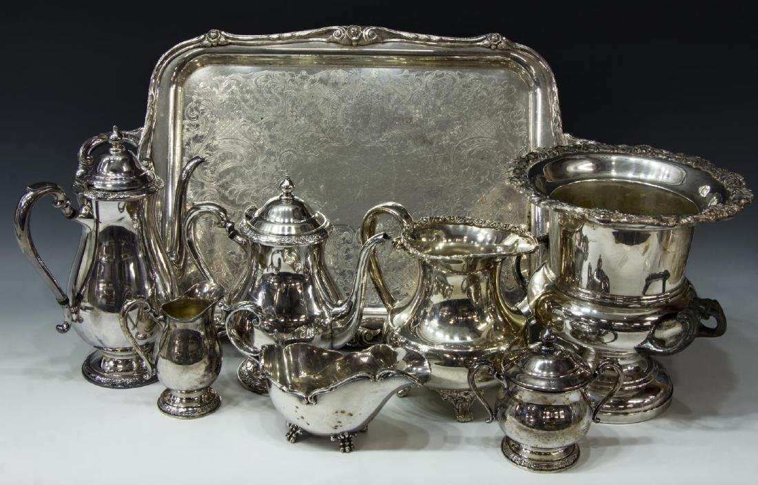 (9) COLLECTION OF DECORATIVE SILVERPLATE TABLEWARE - 3