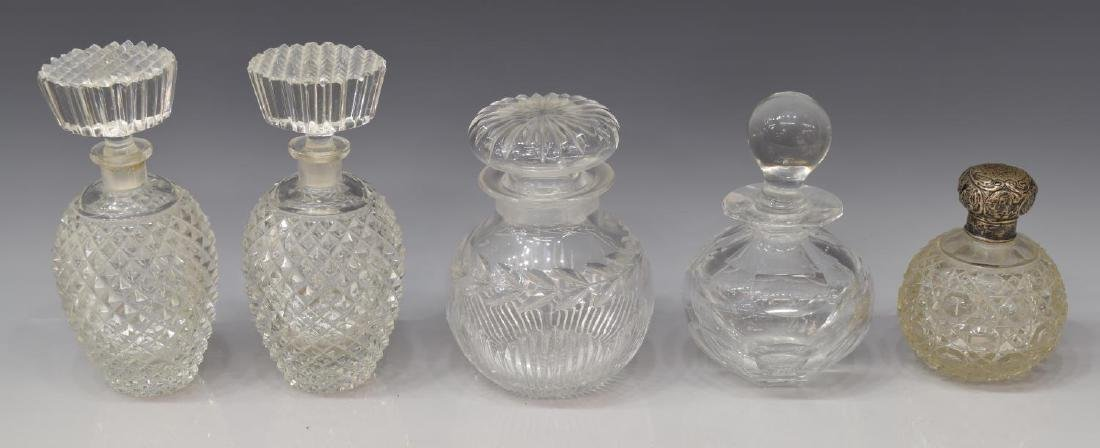 (9) COLLECTION OF DRESSER/ VANITY GLASS ITEMS - 2