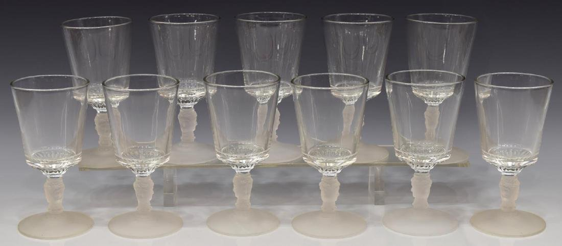 (11) AMERICAN THREE FACES PATTERN GOBLETS