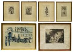 (6) CHALCOGRAPHIE IMPERIALE ETCHING AFTER BOUCHER