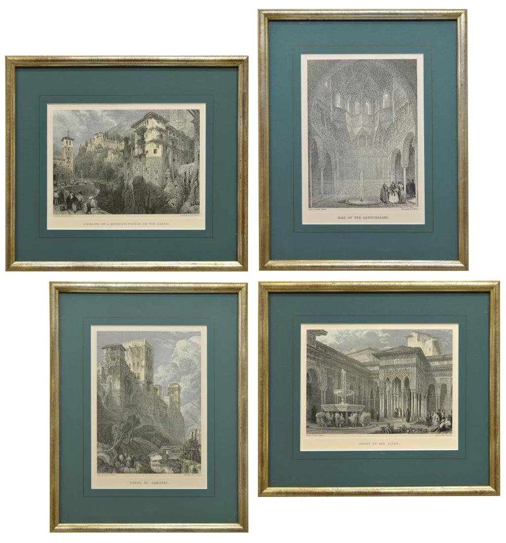 (4) FRAMED ENGRAVINGS AFTER DAVID ROBERTS (D.1864)