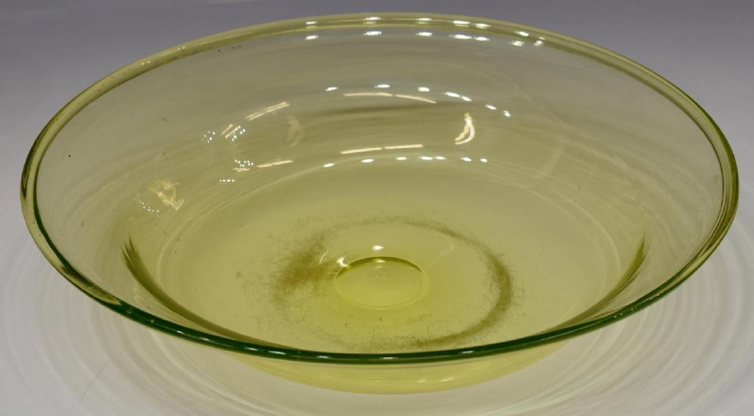 (6) VINTAGE ART GLASS VASES, BOWL & SILVER OVERLAY - 4
