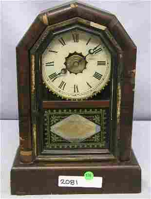 NEW HAVEN SHELF CLOCK. PARTIAL PAPER TAG WITHIN, R