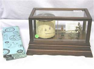WEATHER FORCASTER IN WOOD/GLASS BOX. TAYLOR INSTRU