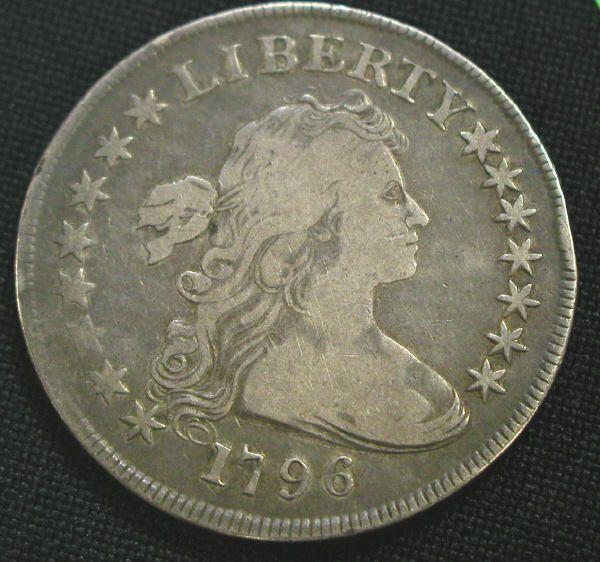 1796 FLOWING HAIR DOLLAR COIN COINS.