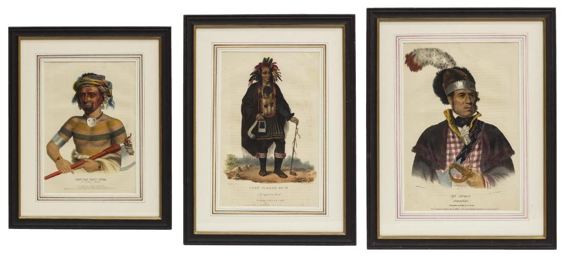 (3) NATIVE AMERICAN LITHOGRAPHS, PUBLISHED 1838