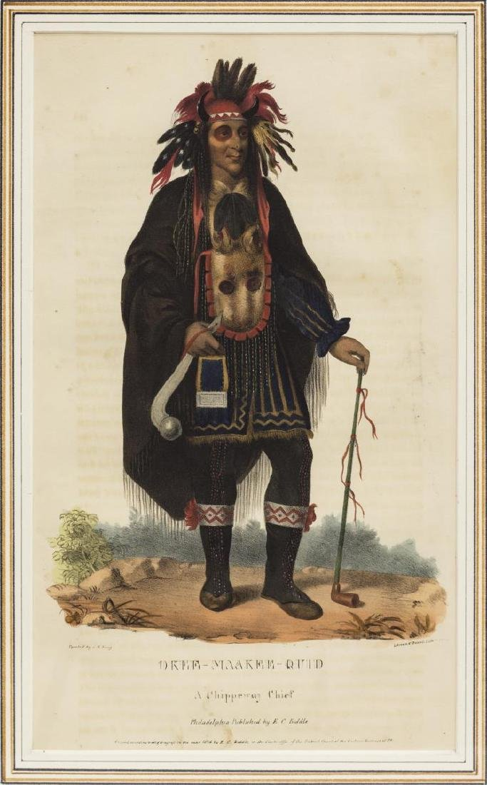 (3) NATIVE AMERICAN LITHOGRAPHS, PUBLISHED 1838 - 4
