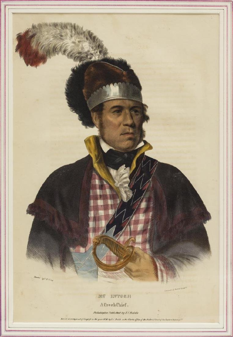 (3) NATIVE AMERICAN LITHOGRAPHS, PUBLISHED 1838 - 5