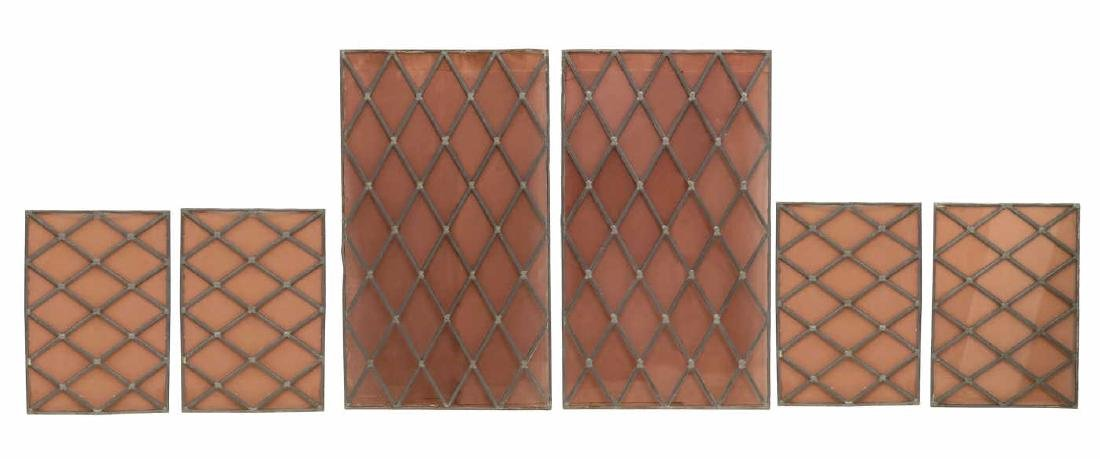 (6) ARCHITECTURAL STAINED & LEADED GLASS PANELS
