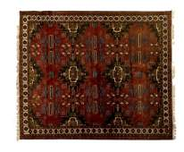"""HAND-TIED PERSIAN STYLE RUG, 11'5"""" X 8'2"""""""