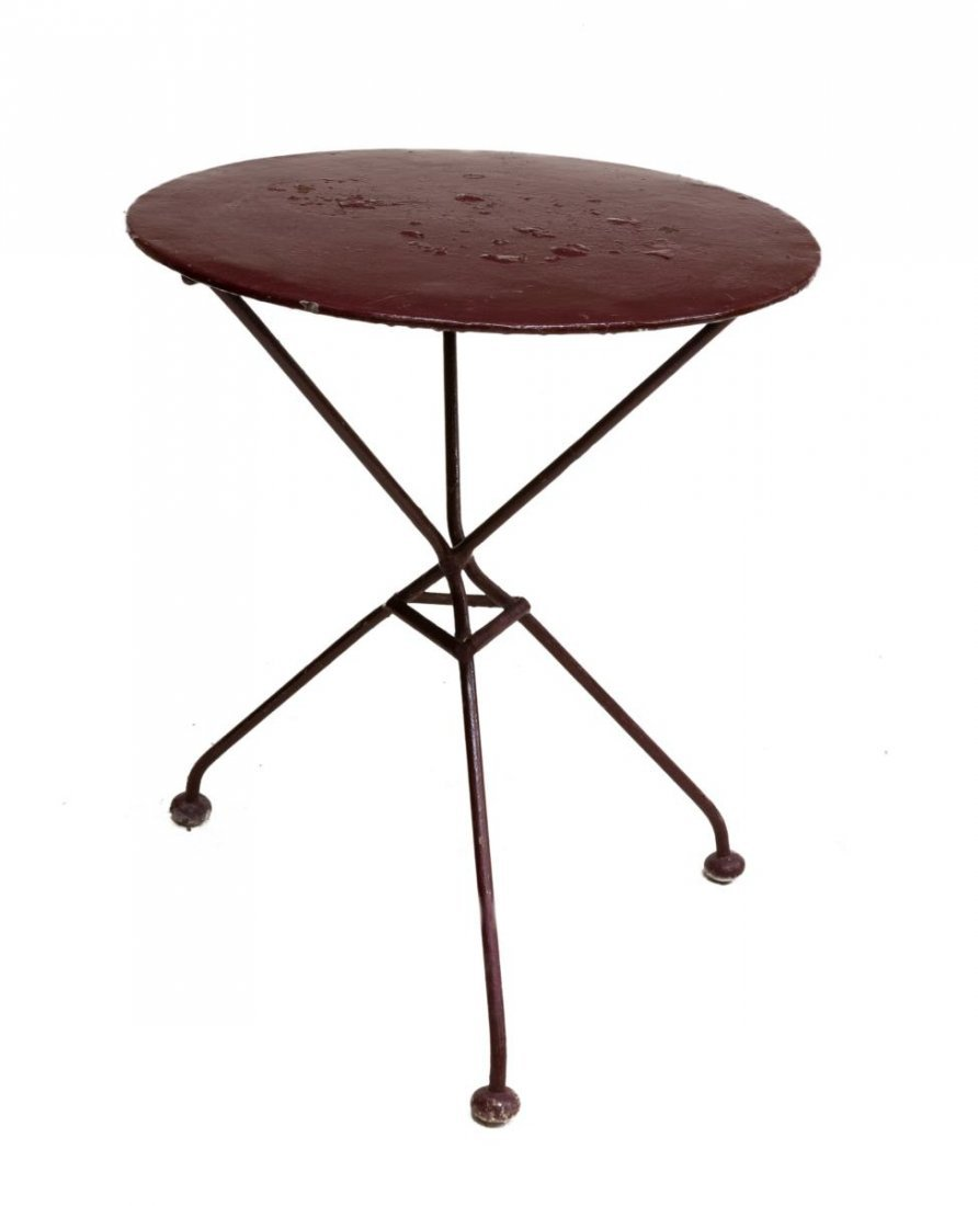 (5) FRENCH PAINTED IRON GARDEN STANDS & TABLE - 3
