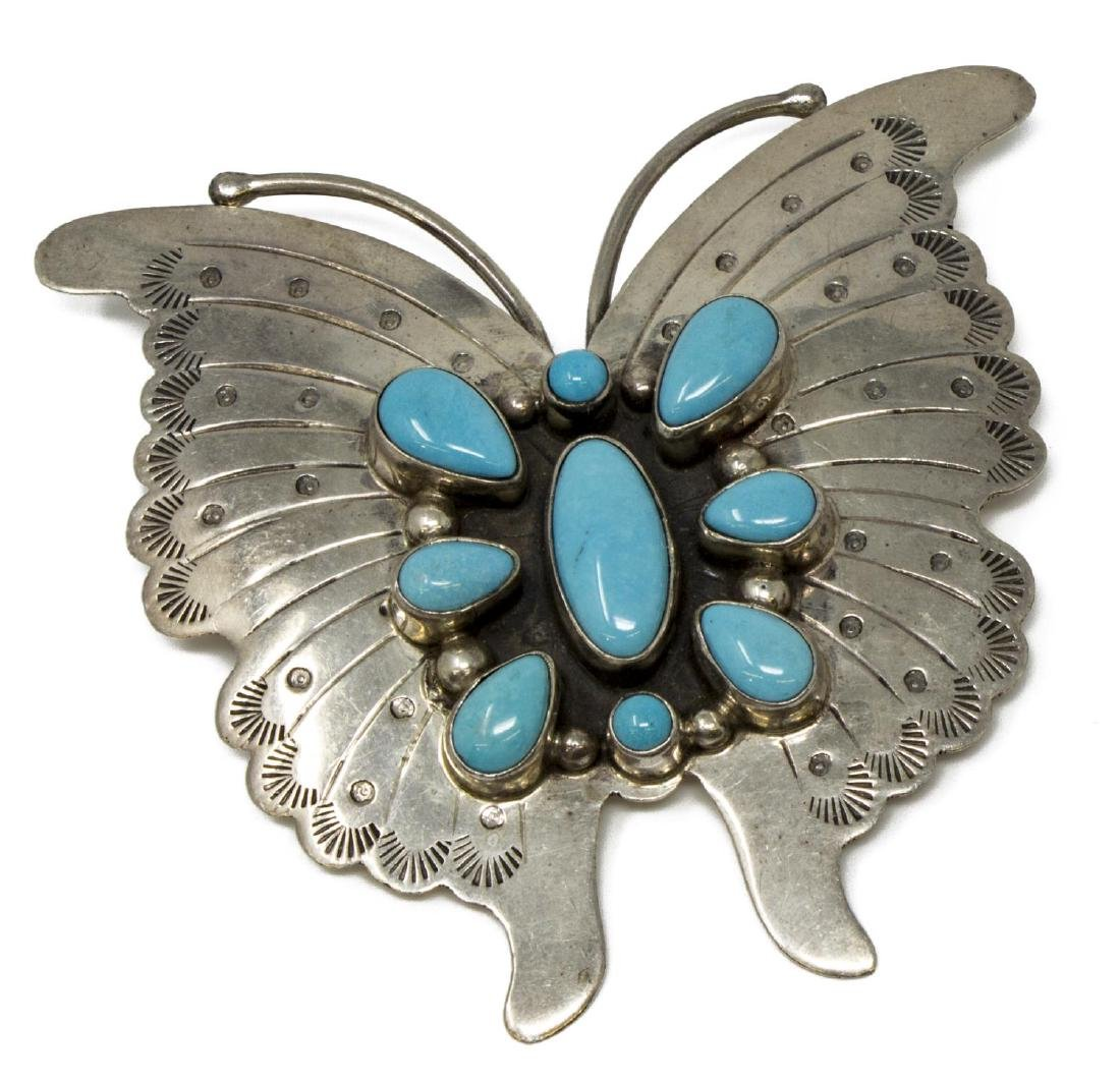2) BOBBY JOHNSON NAVAJO STERLING TURQUOISE JEWELRY - 2