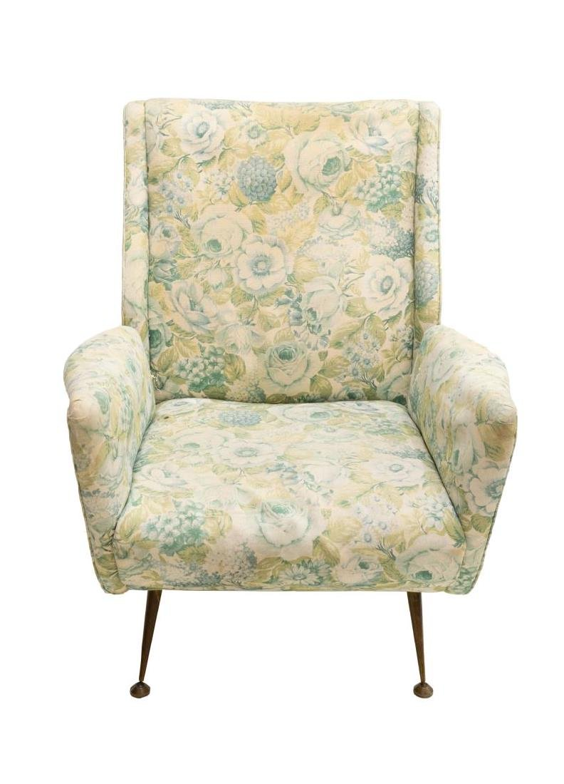 ITALIAN MID-CENTURY MODERN FLORAL LOUNGE CHAIR - 2