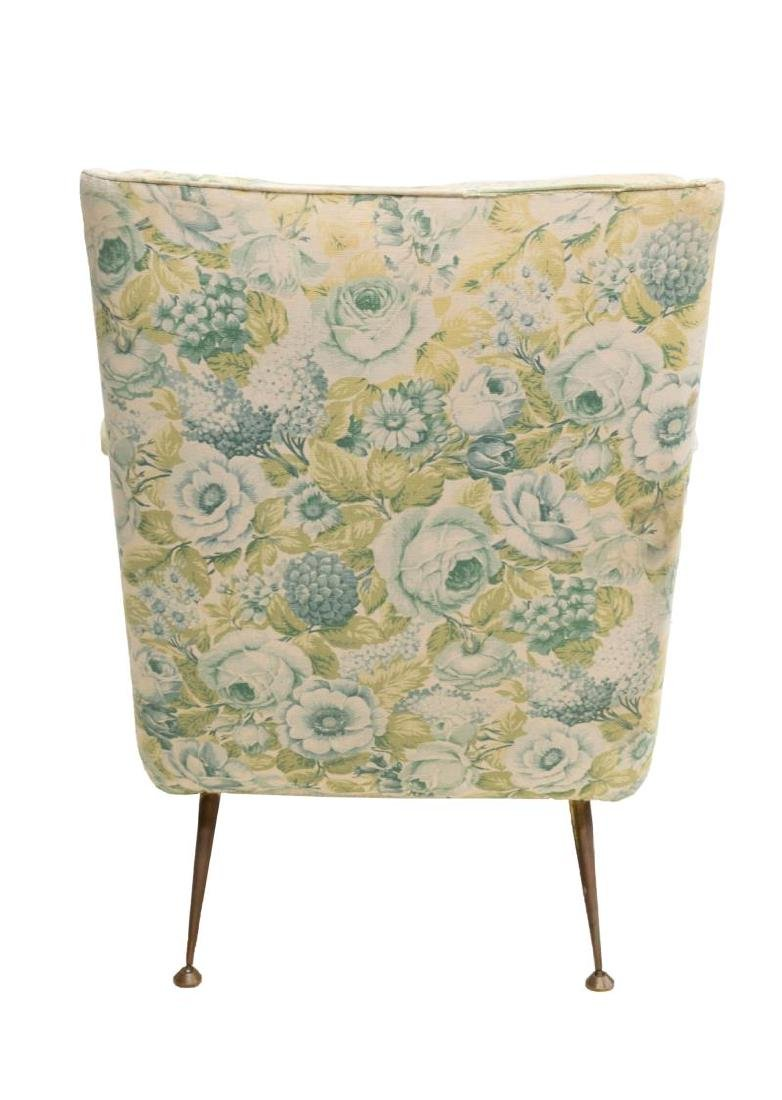 ITALIAN MID-CENTURY MODERN FLORAL LOUNGE CHAIR - 3