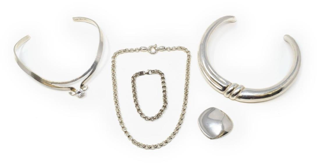 (5) COLLECTION OF TAXCO STERLING SILVER JEWELRY