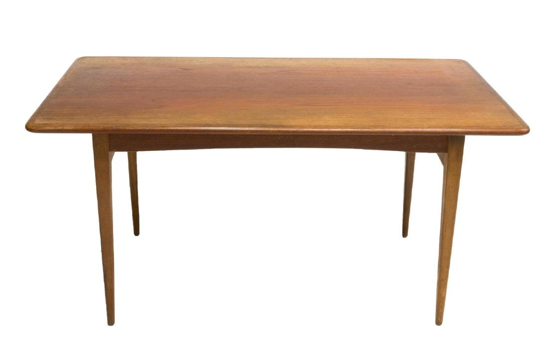 DANISH MID-CENTURY MODERN TEAKWOOD COFFEE TABLE - 2