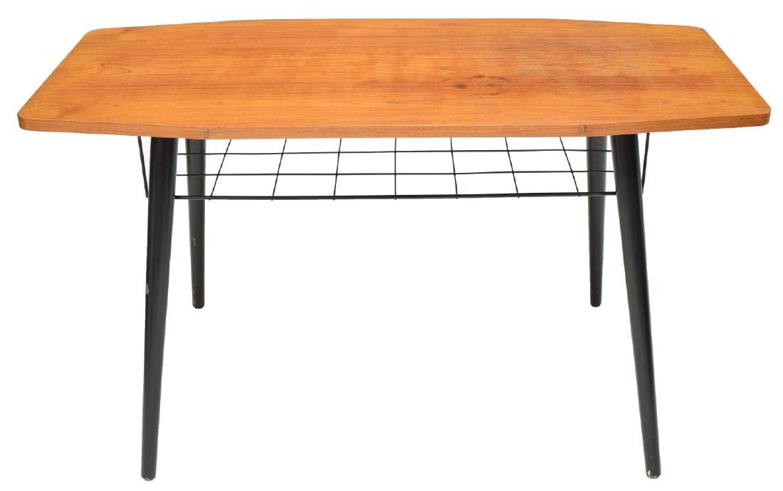 DANISH MID-CENTURY MODERN TEAK COFFEE TABLE - 3